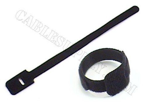 9in Economy Hook and Loop Cable Ties 10 Pack