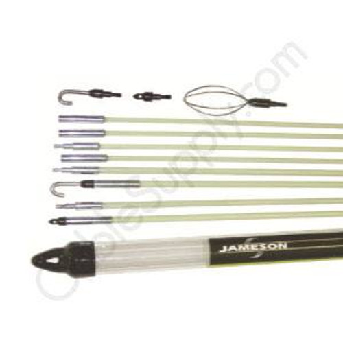 """Fishing Rod Kit, 35 Foot Combo Kit w/ Two 1/4"""" X 5' Rods, Two 1/4"""" X 2.5' Rods, Four 3/16"""" X 5' Rods Jameson 7-8-IK"""
