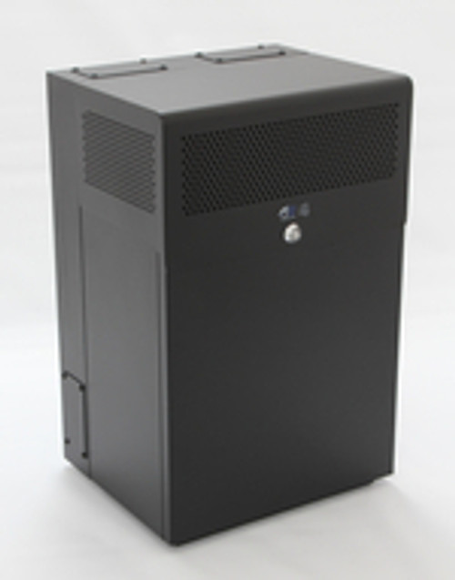 10U + 4U Vertical MiniRaQ Secure - Compact with Vented Bottom by Black Hawk Labs