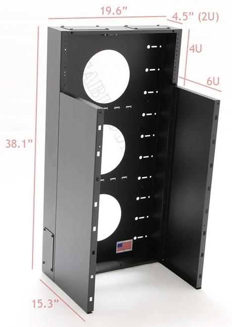 6U + 4U Vertical MiniRaQ Convertible Tall by Black Hawk Labs
