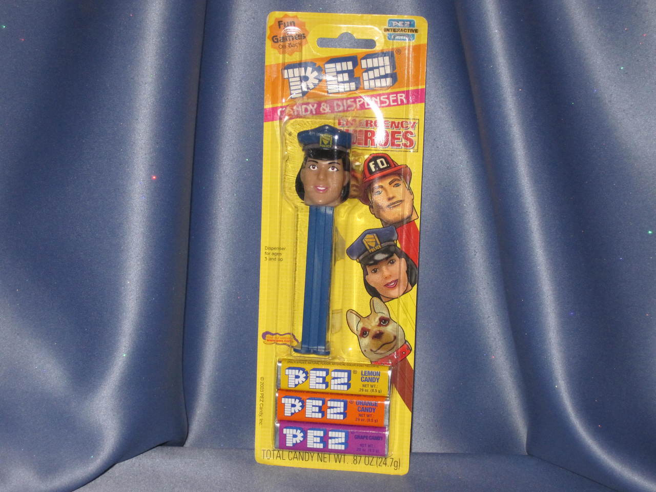 """Emergency Heroes """"Police Woman"""" Candy Dispenser by PEZ."""