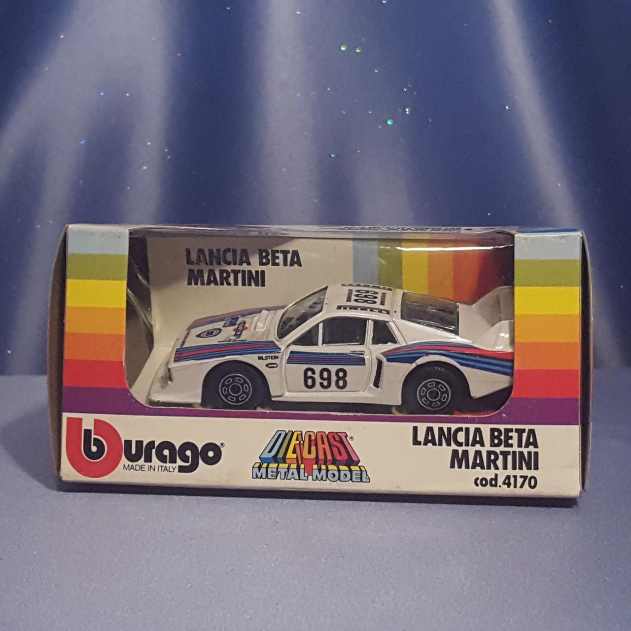 Lancia Beta Martini 1:43 Scale Car by Bburago.