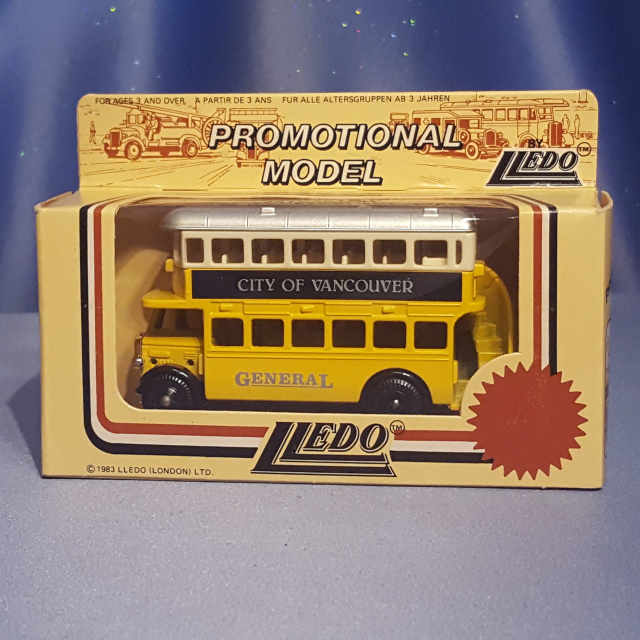 1930's Double Decker Bus - City of Vancouver - Models o
