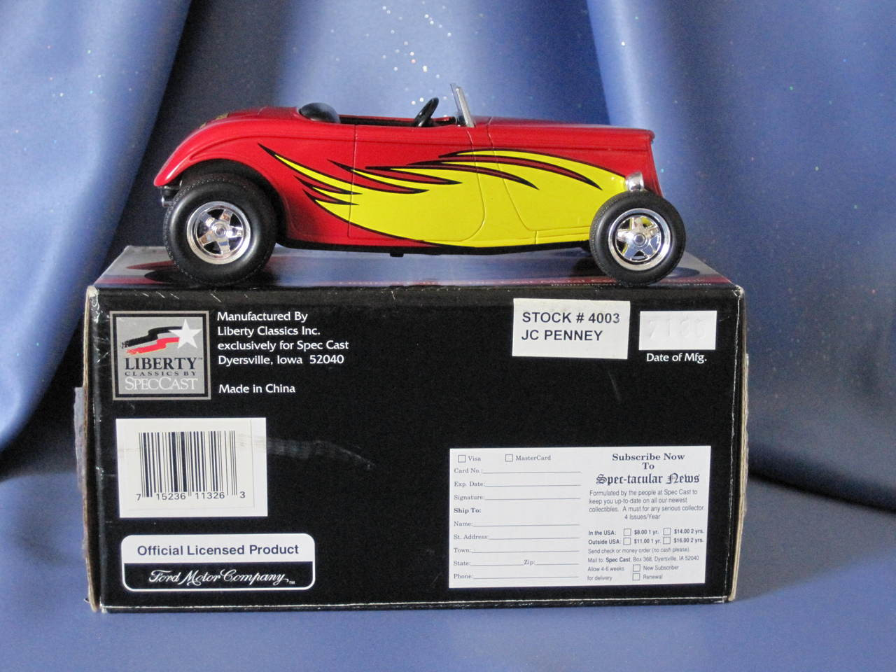 JCPenney - 1934 Ford Roadster Street Rod - Coin Bank by