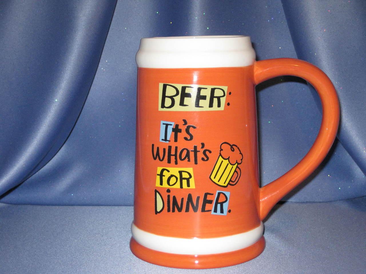 "Beer: ""It's What's For Dinner"" - A Shoebox Mug."