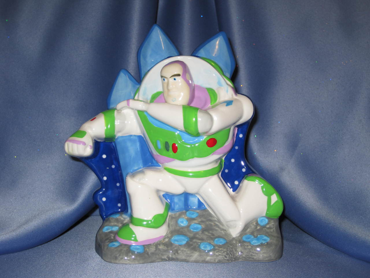 Buzz Lightyear of Toy Story Ceramic Coin Bank.