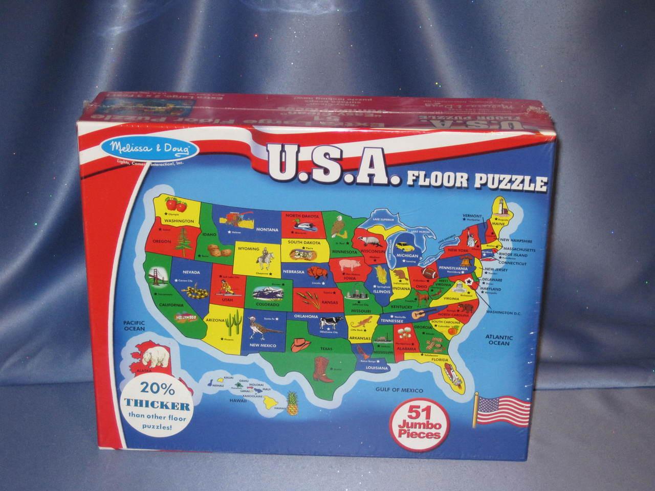 U.S.A. Floor Puzzle by Melissa & Doug.