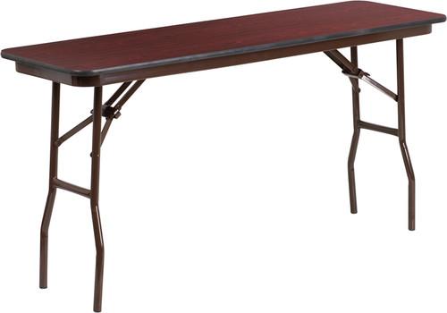 18 x 60 Walnut Folding Table YT-1860-MEL-WAL-GG