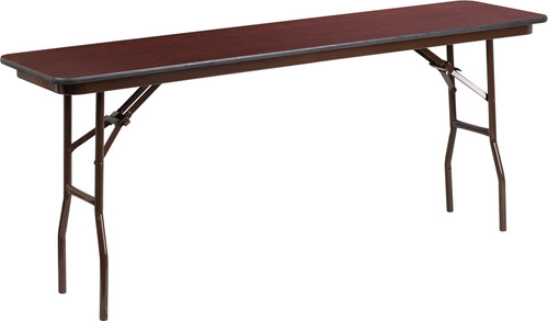 18 x 72 Walnut Folding Table YT-1872-MEL-WAL-GG