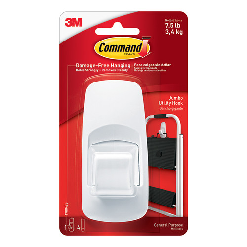 3m Company MMM17004 Command Adhesive Reusable Jumbo Hook
