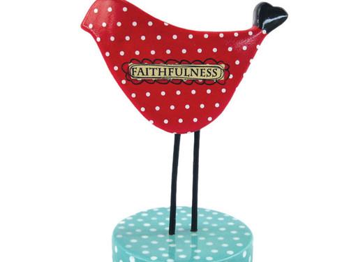 'Faithfulness' Ceramic Bird Figurine