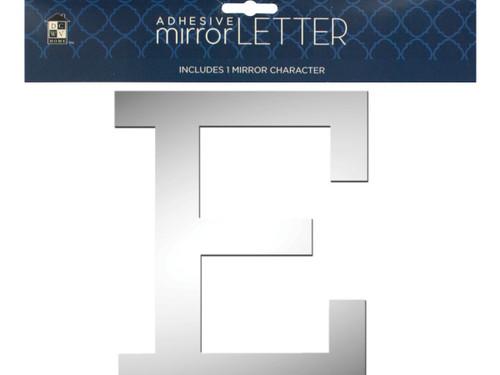 'E' Adhesive Mirror Letter