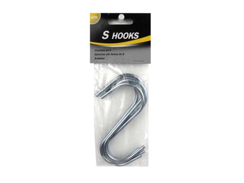 """""""S"""" hooks, pack of 4"""