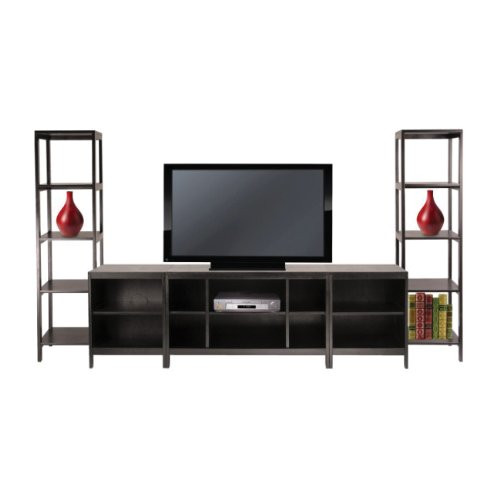 Winsome Wood Hailey Wood 5pc Entertainment Center