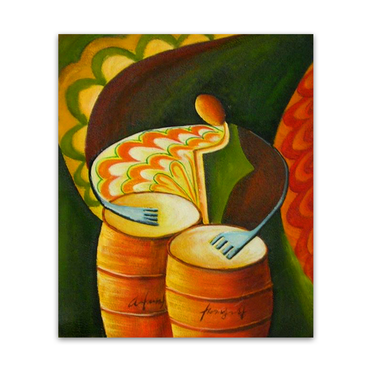 Tempo | Buy Oil Painting & Abstract Wall Art on Canvas for Music Lovers