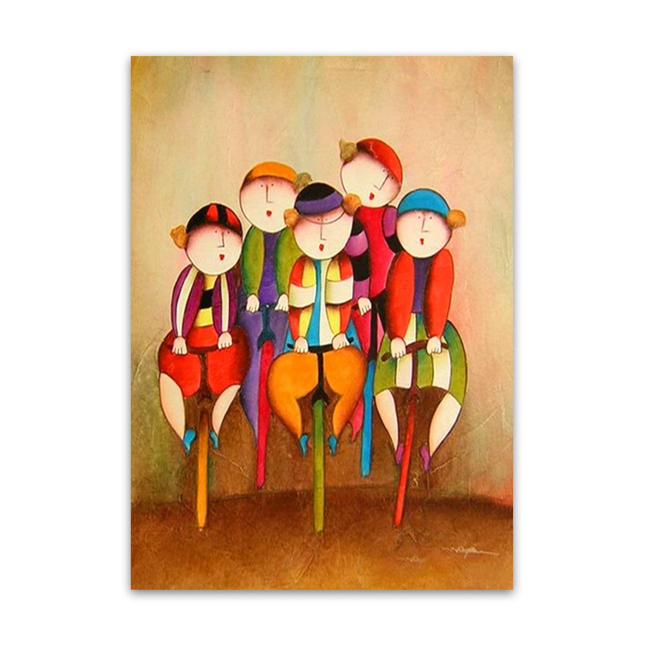 Bike race kiddie wall art decors paintings for sale in for Art for sale on line