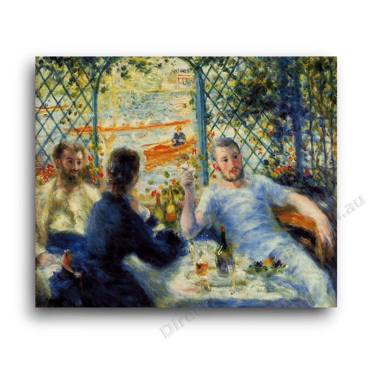 renoir luncheon of the boating party Luncheon of the boating party by renoir (1880-81): interpretation of impressionist genre painting.