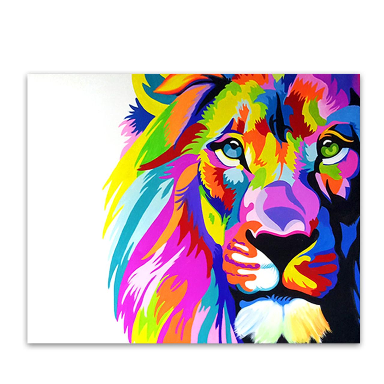 Shop For Colourful Lion Oil Painting Online Australia