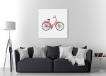 Bicycle Icon Art Print on the wall