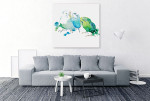 Birds In Watercolour Canvas Print on the wall