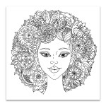 Abstract Hair Wall Art Print