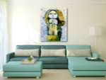 Alternative Picasso Painting Art Print on the wall