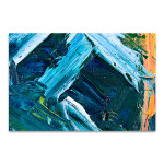 Blue and White Paint Strokes Art Print