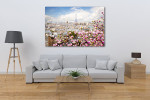 Blooming Magnolia Spring Tree Art Print on the wall