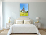 Blue Sky View of Eiffel Tower Art Print on the wall