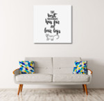 Best Therapist Wall Art Print on the wall