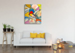 Arty Cubism Wall Art Print on the wall