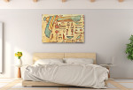 Ankh Carving Art Print on the wall