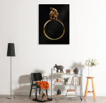 Beauty in Golden Ring Art Print on the wall