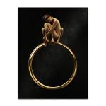 Beauty in Golden Ring Art Print