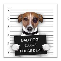 Mugshot Of Dog Art Print