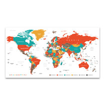 Countries And Cities Map Art Print