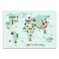 World Travel Map Wall Print