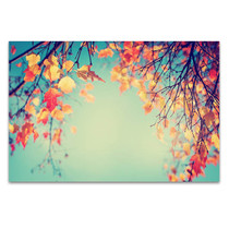 Autumn Leaves In Vintage Art Print