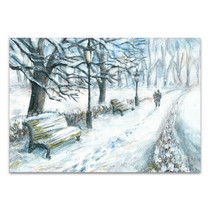 Winter Park Canvas Art Print