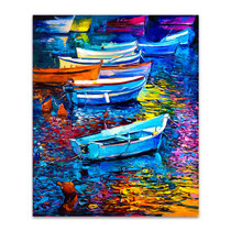Boats And Sea Wall Print