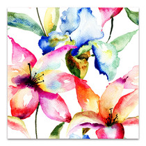 Lily and Iris Canvas Art Print