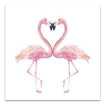 Watercolour Flamingos Canvas Art Print