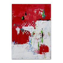 Brooke Howie   Red and White Abstract