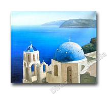 Mediterranean Paintings | Greek Islands Hand Painted on Canvas