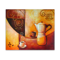 Coffee | Original Oils on Canvas Still Life Wall Hanging for Caf̩