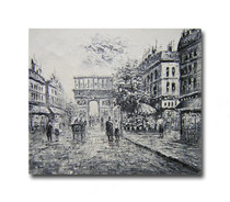 Dawn One | Black & White Wall Art & Streetscape Art Paintings for Sale
