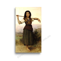 Wiiliam Bouguereau | The Shepherdess