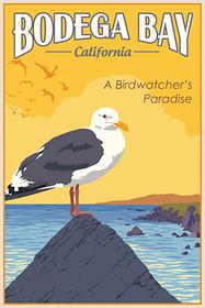 Bodega Bay California Bird Vintage