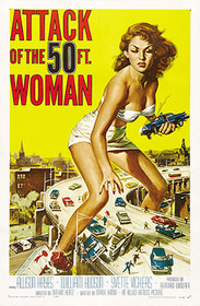 Vintage Poster Attack of the 50ft Woman