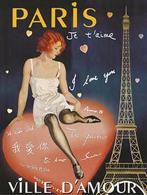 Vintage Paris Ville d'Amour